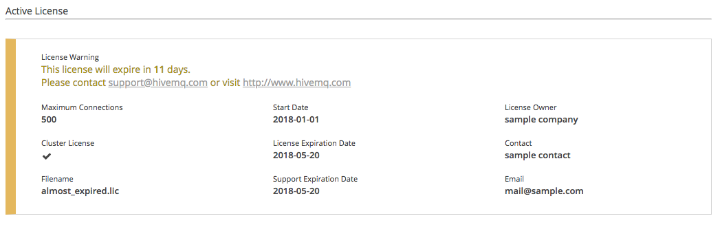 Available Information :: HiveMQ Documentation
