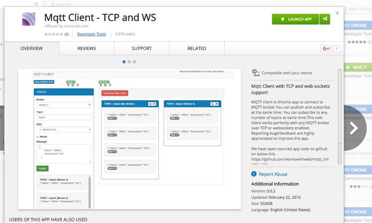 MQTT Client Chrome App - HiveMQ MQTT Toolbox