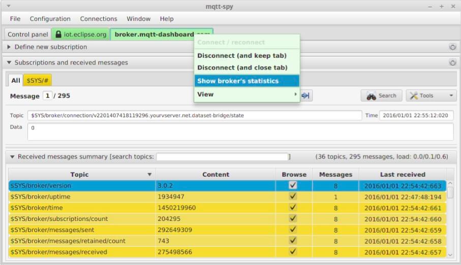 mqtt-spy - HiveMQ MQTT Toolbox