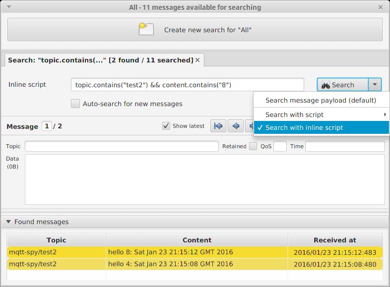 MQTT Spy Advanced - HiveMQ MQTT Toolbox