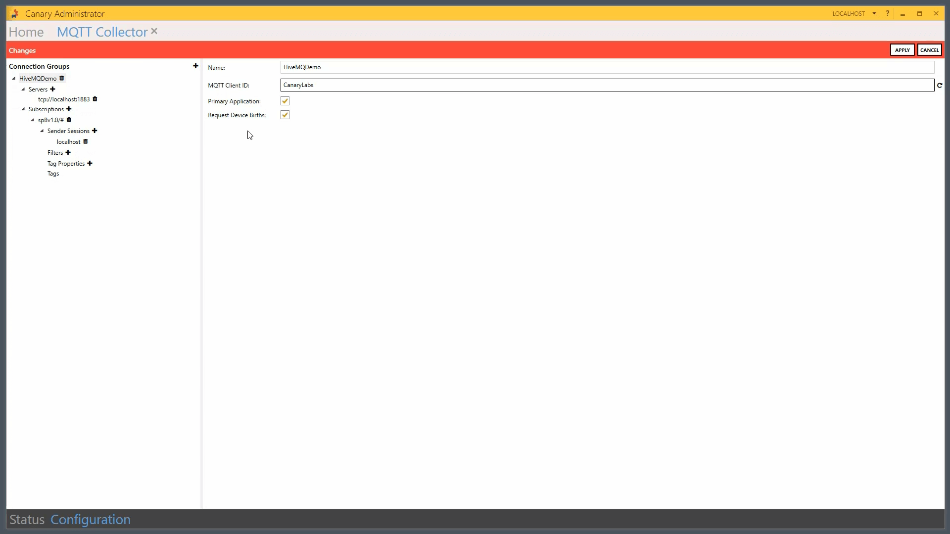Configuring Canary Historian to Receive