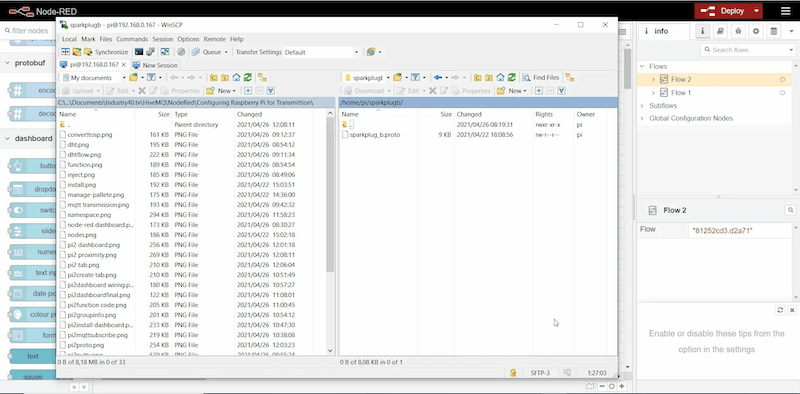 Win SCP to copy the file to a directory of your choice on the Raspberry Pi device