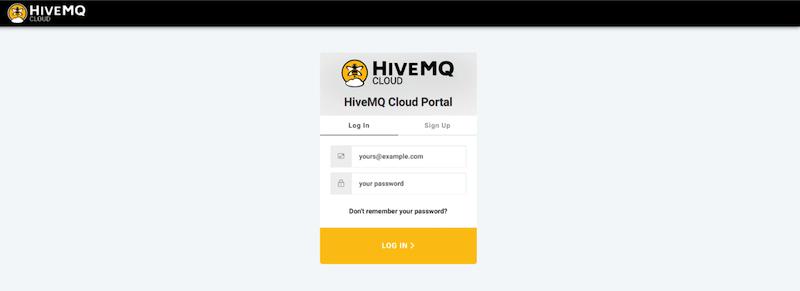 HiveMQ Cloud MQTT Broker Sign-up Page