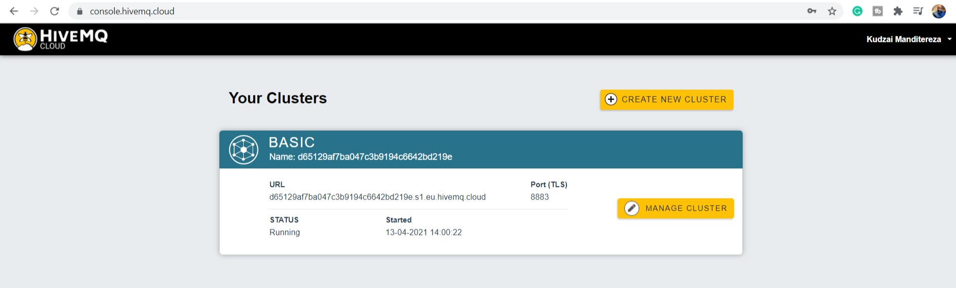 HiveMQ Cloud Your Clusters