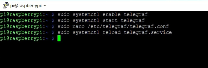 Reload Telegraf