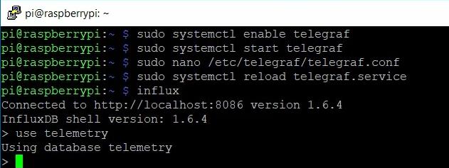 Select telemetry database