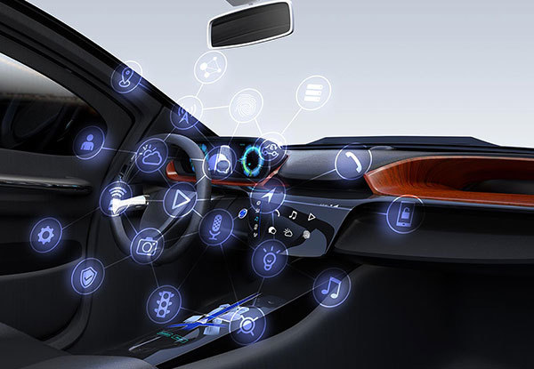 Cockpit of a connected car