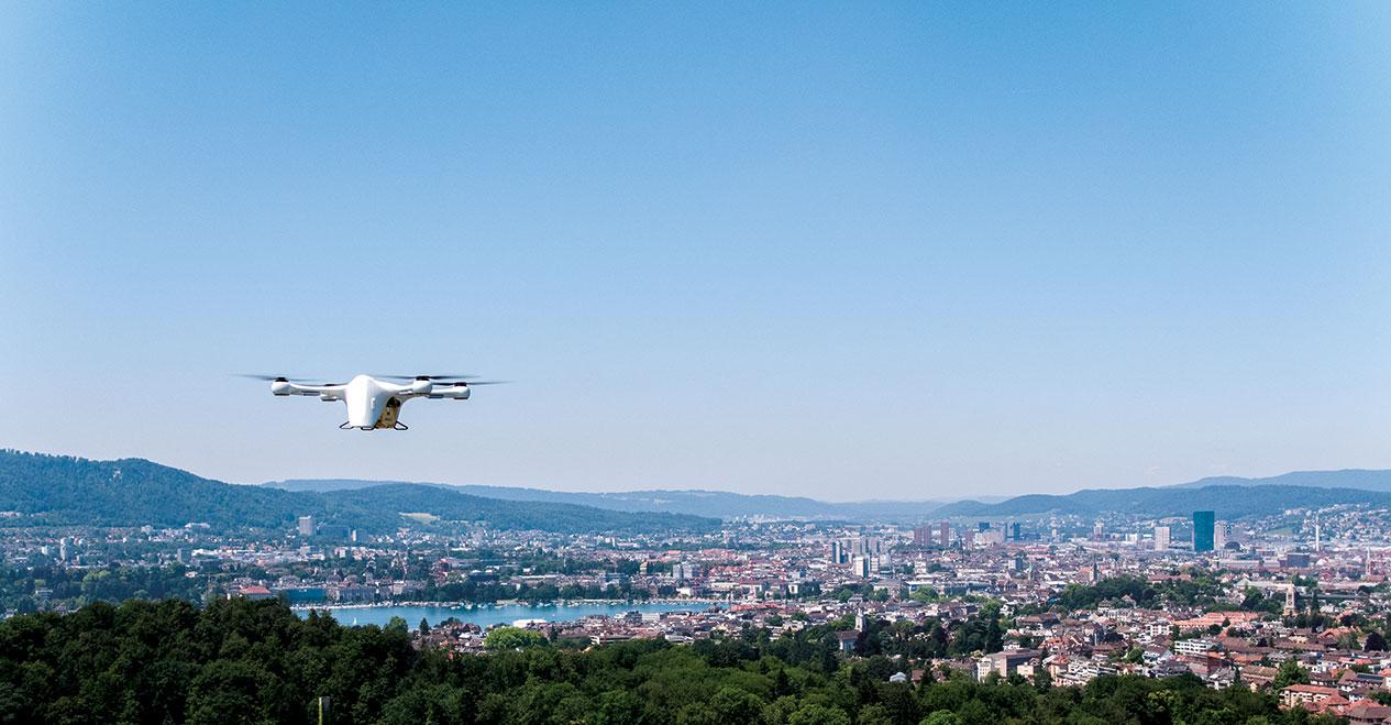 Matternet Drone above Zurich lake